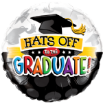 "18"" Round Hats Off To The Graduate! Foil Balloon"
